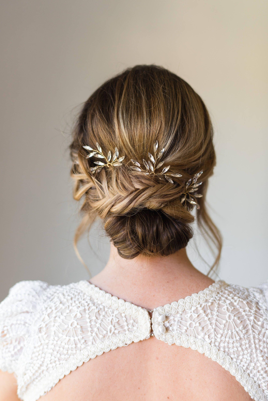 Branch hair pins bridal hair pins crystal hair pins