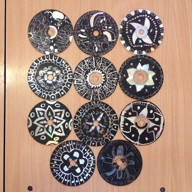 Játékos tanulás és kreativitás: Dekoráció CD-ből karcolással