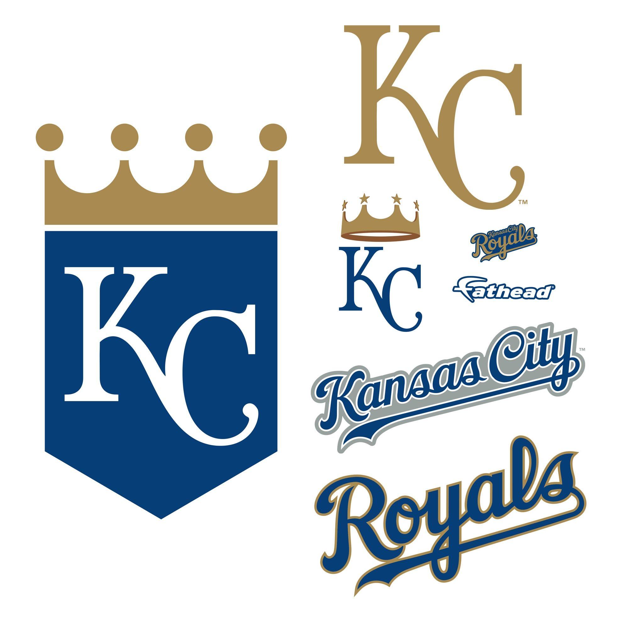 Kansas City Royals Logo Giant Officially Licensed Mlb Removable Wall Decal Kansas City Royals Logo Kansas City Royals Kansas City