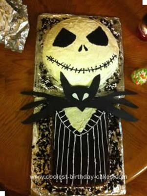 Coolest Jack Skellington Birthday Cake DIY Birthday Homemade