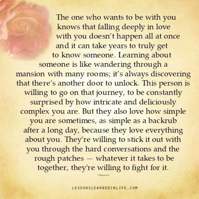 Lessons Learned In Life Falling Deeply In Love With You Love Deeply Lessons Learned In Life Getting To Know Someone