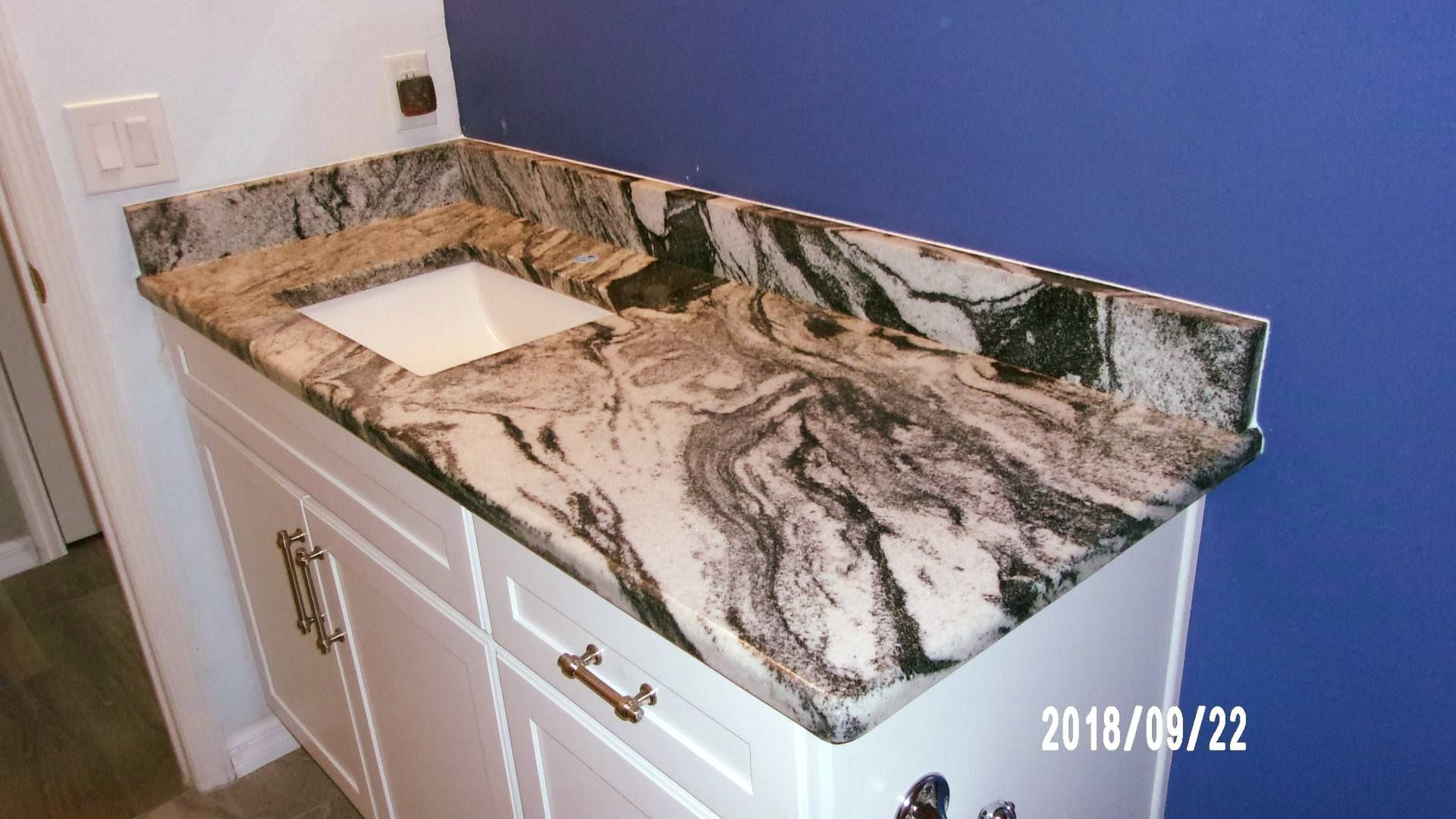Beautiful Custom Made Bathroom Countertop Which Is Designed