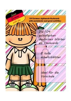 german sightwords daf daz sight word worksheets phonics words und sight words. Black Bedroom Furniture Sets. Home Design Ideas