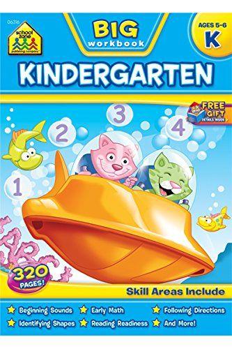 Printable Kindergarten Worksheets Worksheets For Kids Kindergarten Workbooks School Zone Workbook