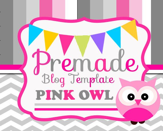 Blogger Template - Pink Owl I love it! Blog Design - love templates free