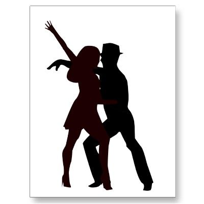 Silhouette Of Salsa Dancers Postcards Postcard Template Designs Salsa Dancer Silhouette Salsa Dancing