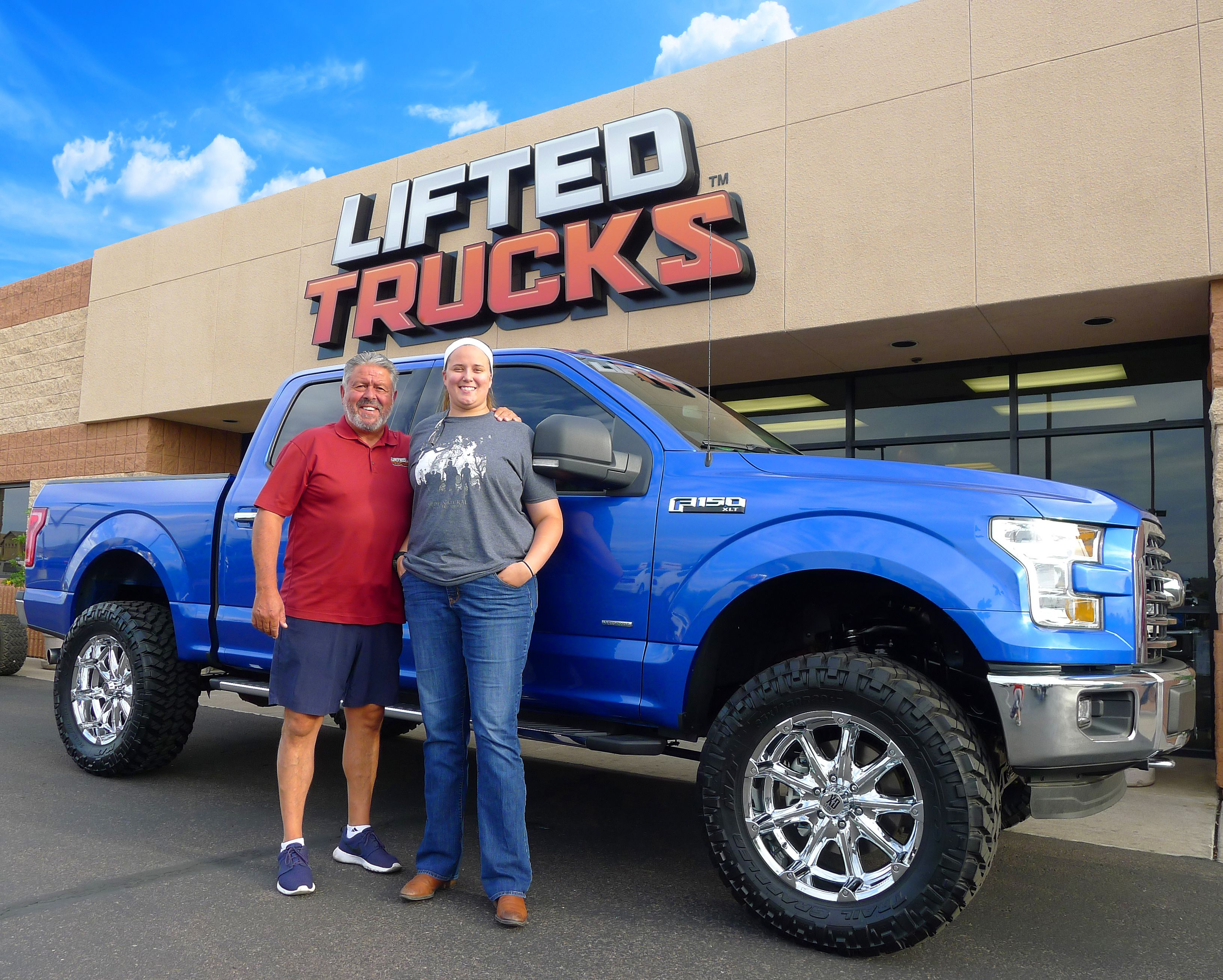 Lifted Trucks Customer Sara With Her New F 150 From Http Www