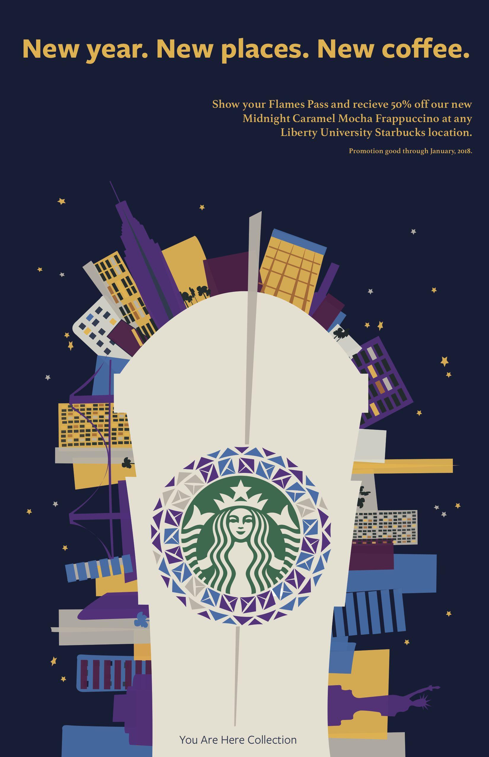 Starbucks Promo Poster Starbucks Poster Starbucks Promotion