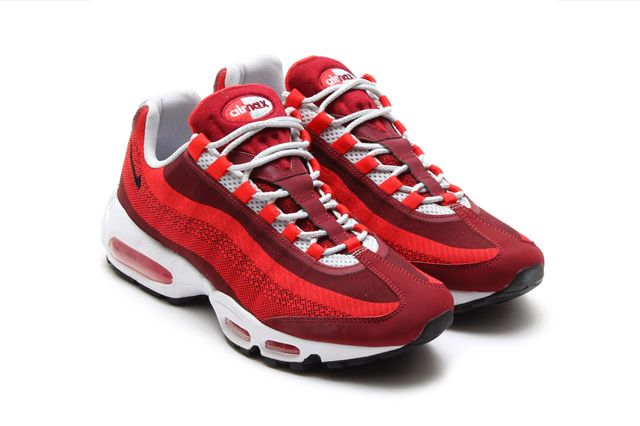new style b311b 7bbde #NIKE #AIRMAX 95 #JACQUARD (UNIVERSITY RED) | Sneaker Freaker #sneakers  #kicks