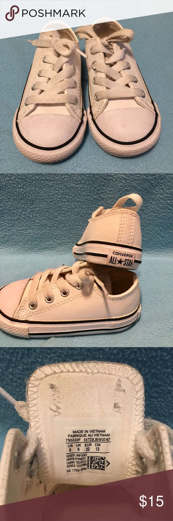 infant size 6 leather converse - 53