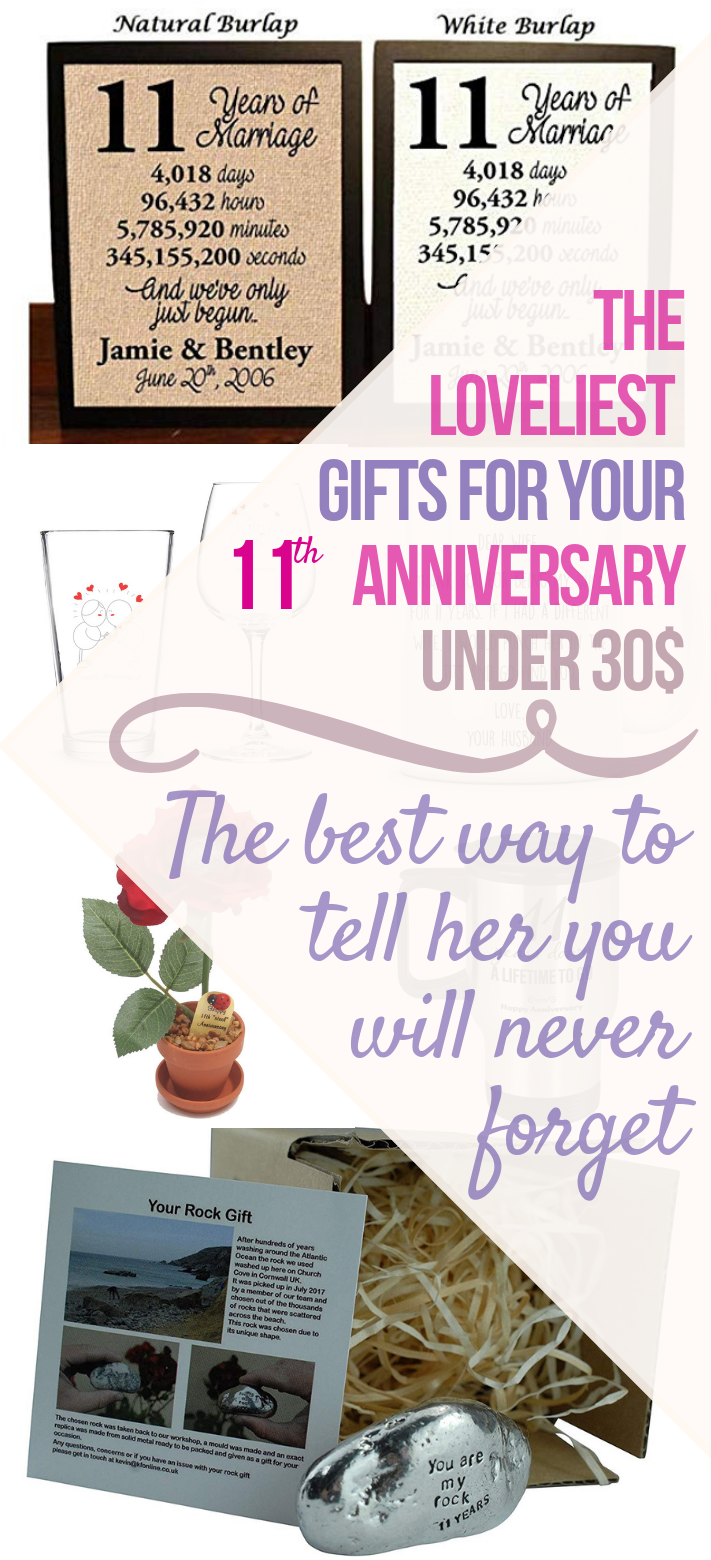 11th Anniversary Gifts For Her Under 30 11th Anniversary Gifts 11th Anniversary 11th Wedding Anniversary Gift