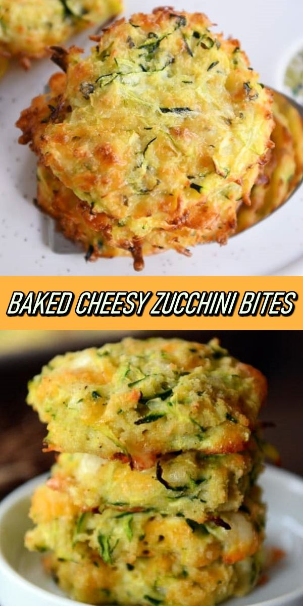 BAKED CHEESY ZUCCHINI BITES