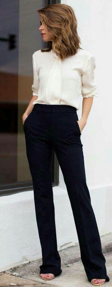 Pantalón Negro Vestir My Style Fashion Stylish Office Y