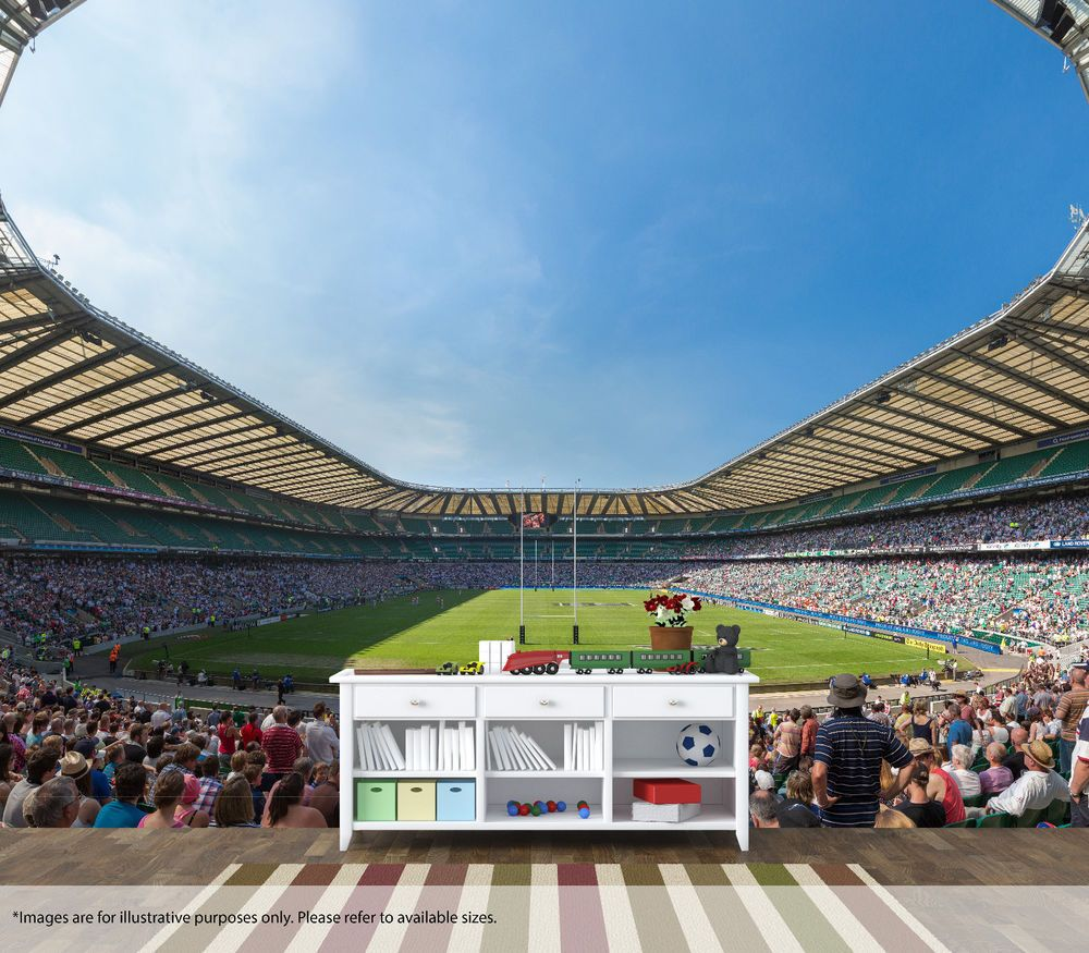 Details About Twickenham Stadium Rugby Wall Mural Art Quality Pastable Wallpaper Decal England Mural Art Mural Wall Art Wall Murals