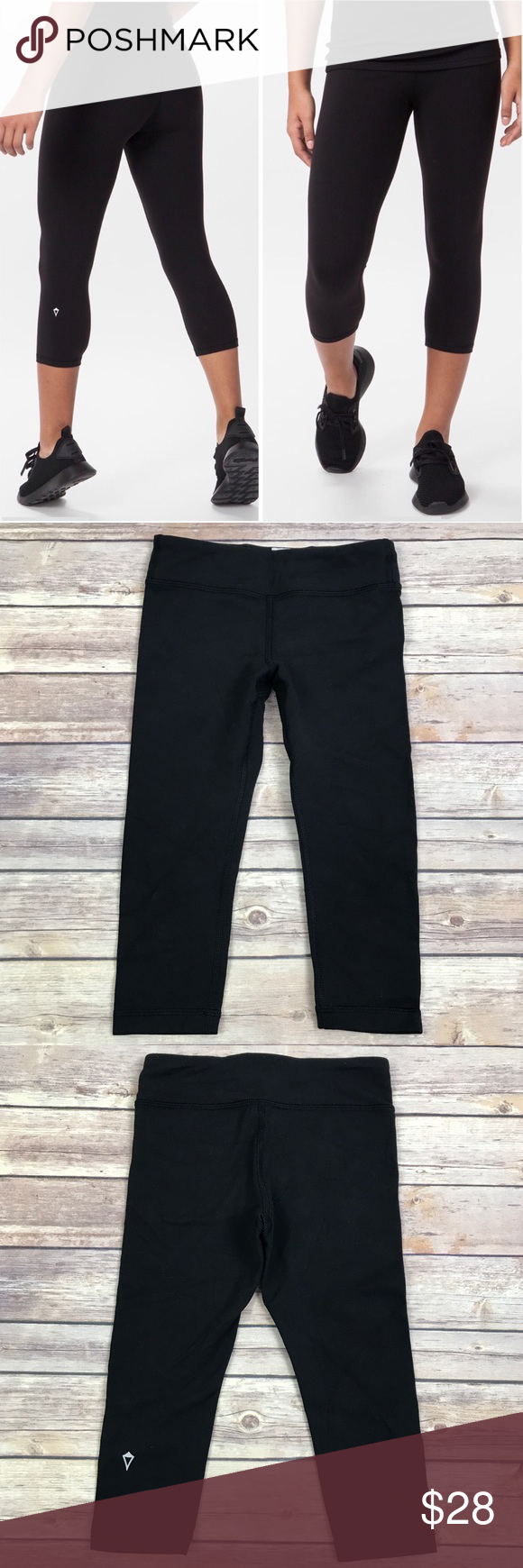 "edf879f98d76ac Ivivva Rhythmic Crop Black Leggings Girls 6 Ivivva Rhythmic Crop Black  Leggings Size: Girls 6 Inseam: 17"" Great condition! Ivivva Bottoms Leggings"