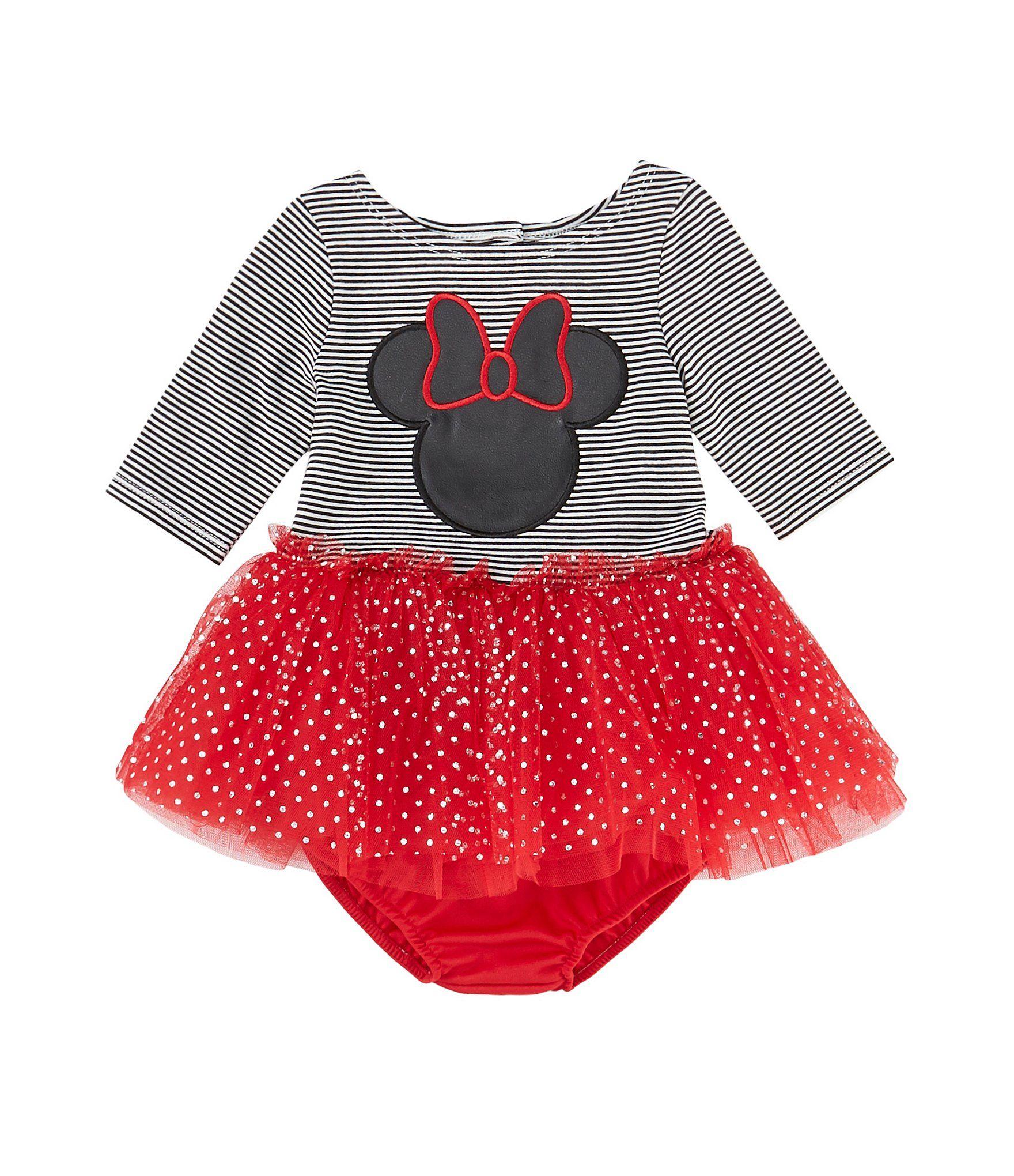 Photo of Disney x Pippa & Julie Baby Girls Newborn-24 Months Minnie Mouse Striped Knit/Mesh Tutu Dress | Dillard's
