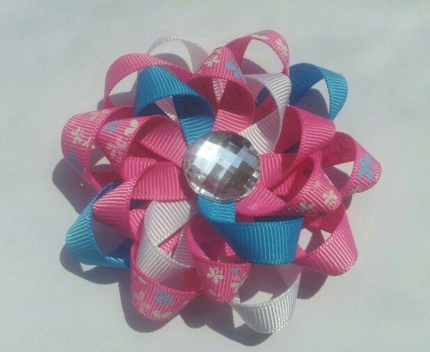 Fiocco per capelli - loopy hair bow | Moños, Diademas, Flores