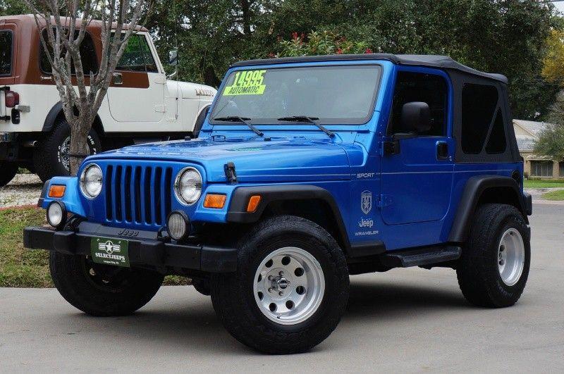 2003 Rare Intense Blue Jeep Wrangler Sport 14 995 Automatic New Soft Top Alloy Wheels 4 0l Stra Jeep Wrangler 2003 Jeep Wrangler Green Jeep Wrangler