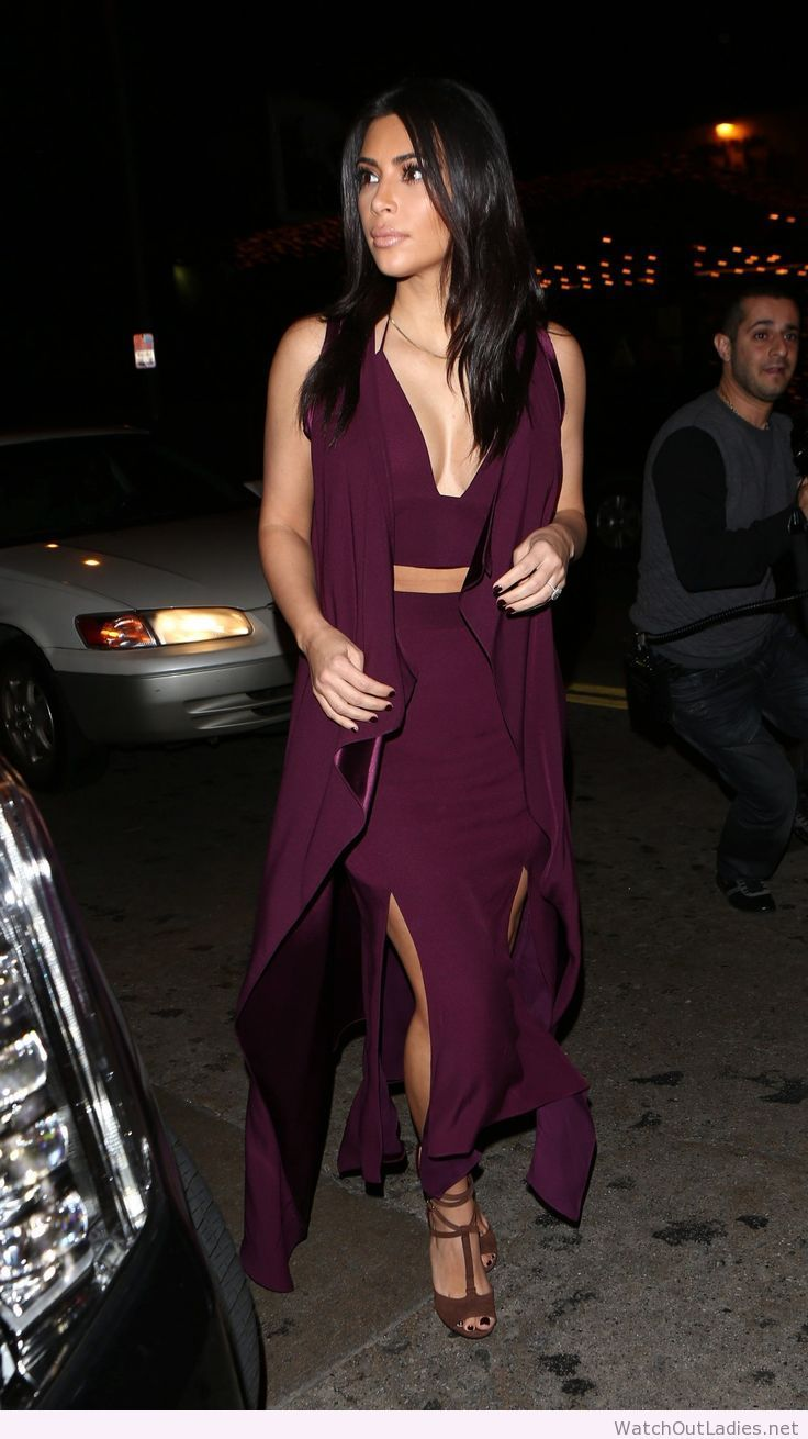 Kim Kardashian purple outfit | watchoutladies.net | Pinterest ...