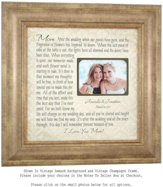 Mother of the Bride Gift, wedding frame, Parents Wedding Frame Sign ...