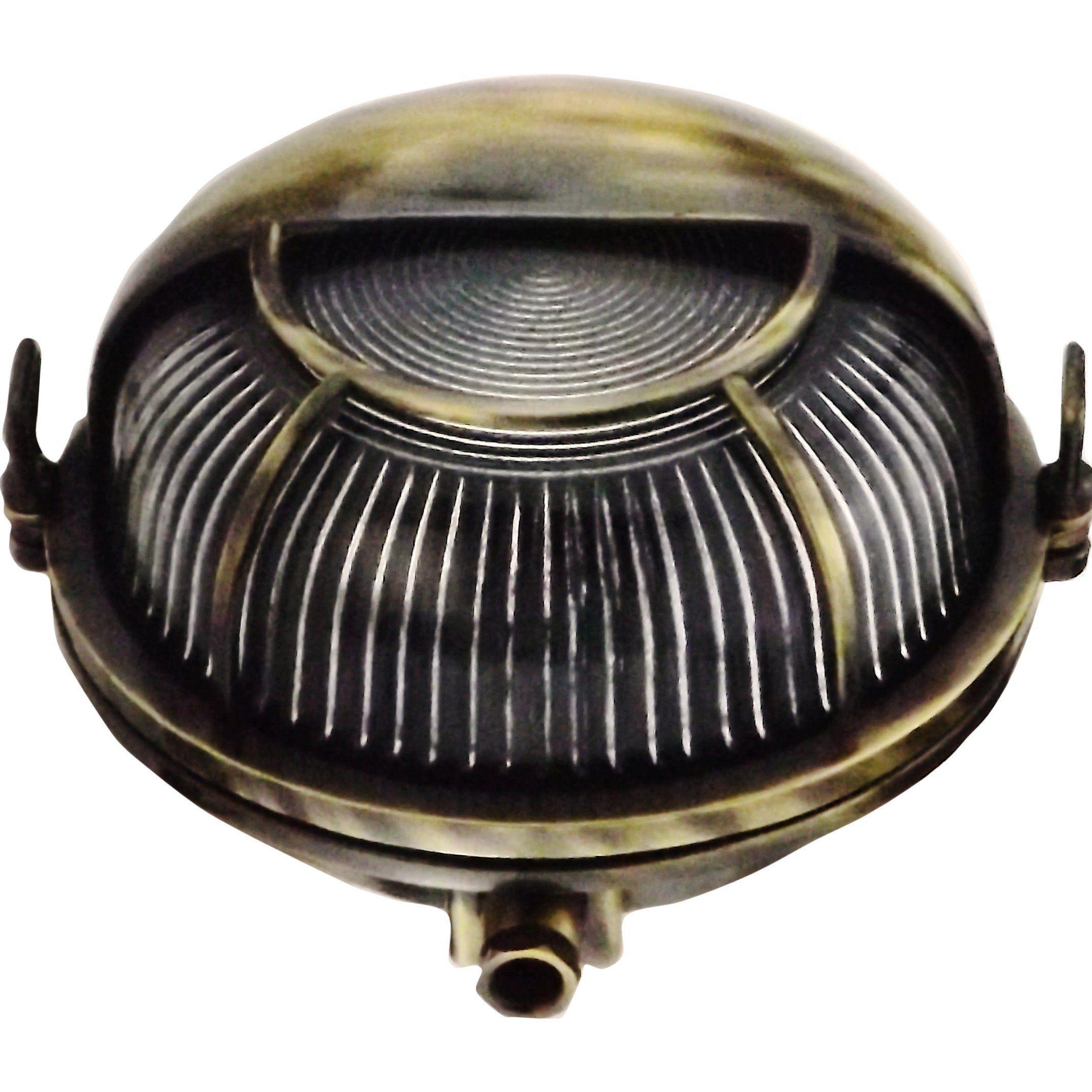 c4429056c6f Orbis compact Brass bulkhead Round outdoor waterproof light Nautical marine wall  lamp