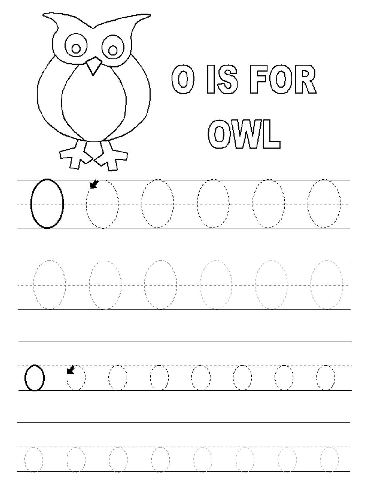 Letter O Worksheets for Preschool | Letter o worksheets ...