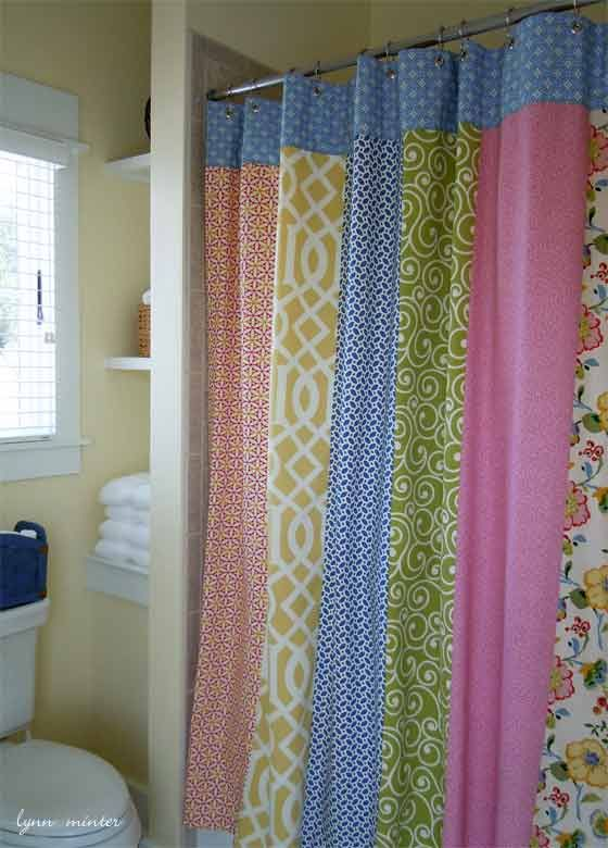 quilted curtains | here\'s a queen-size bed in the main room that ...