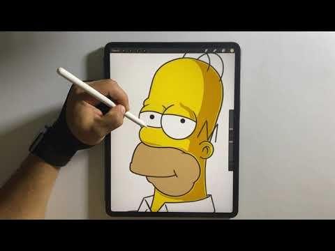 Como Dibujar A Homero Simpson En El Ipad Pro Suriel Art Youtube In 2020 Character Fictional Characters Tweety