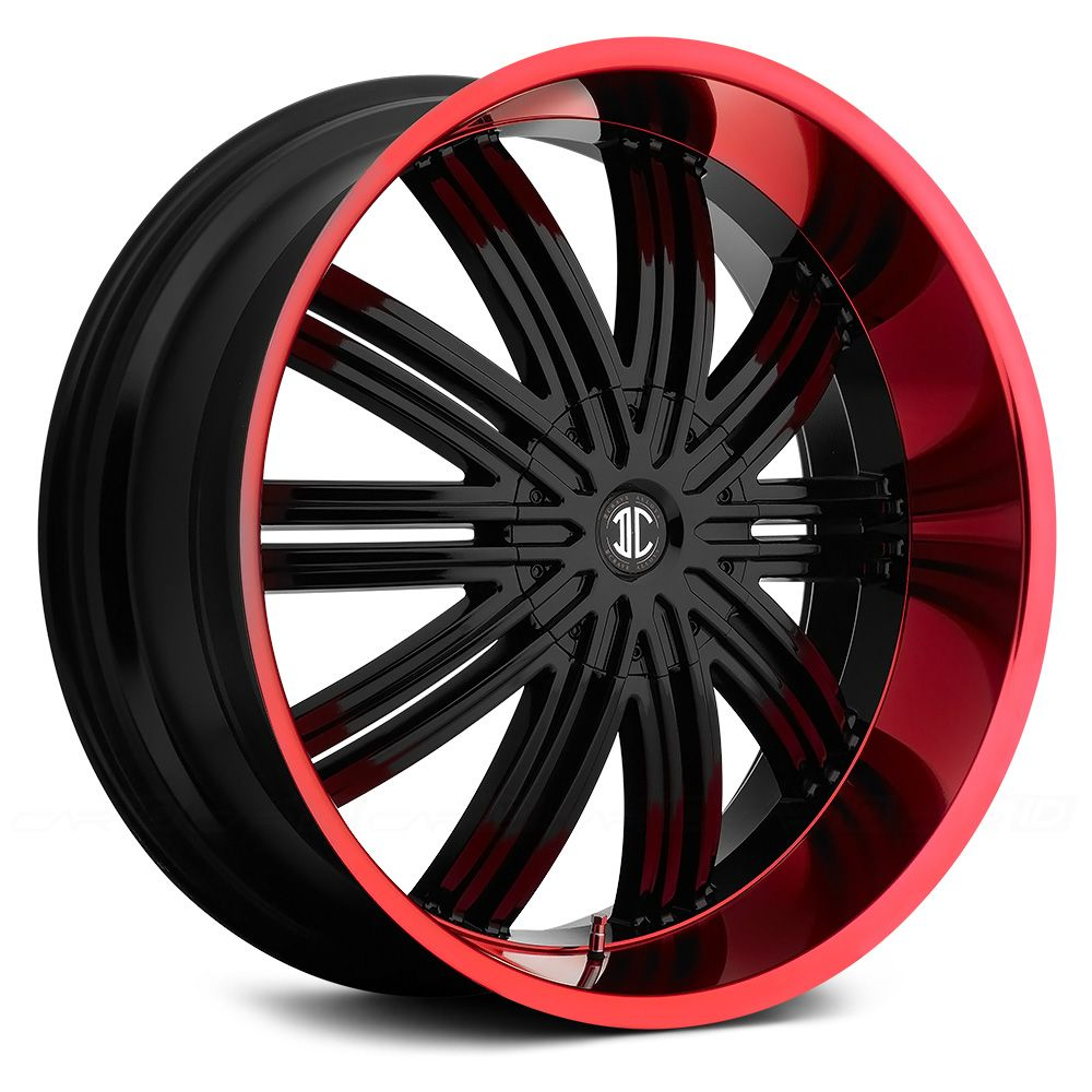 Fiero Number 7 Gloss Black With Red Lip Rims For Sale Wheels
