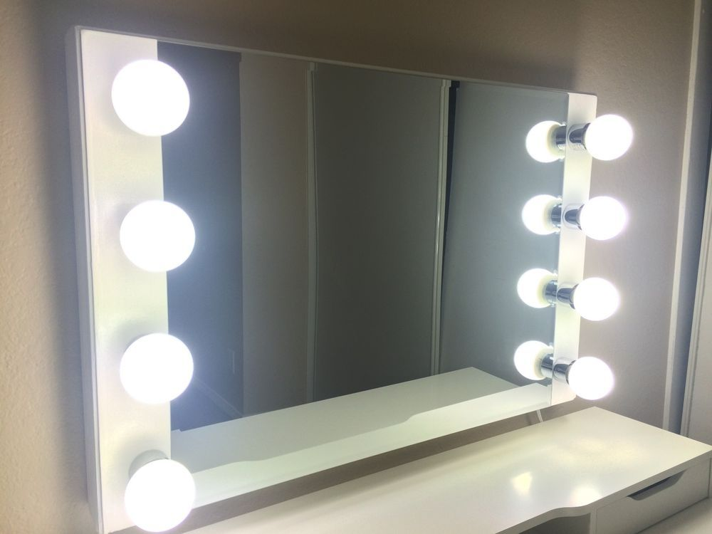 White Lighted Starlet Makeup Vanity Mirror New In