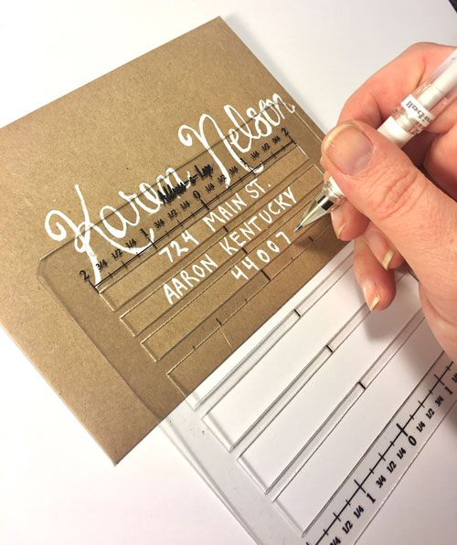 Envelope Address Template Stencil | Card Creations | Addressing