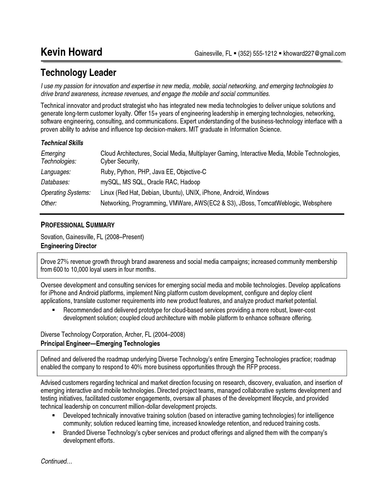 Sample Business Resume Format Examples Great Resumes Power Words
