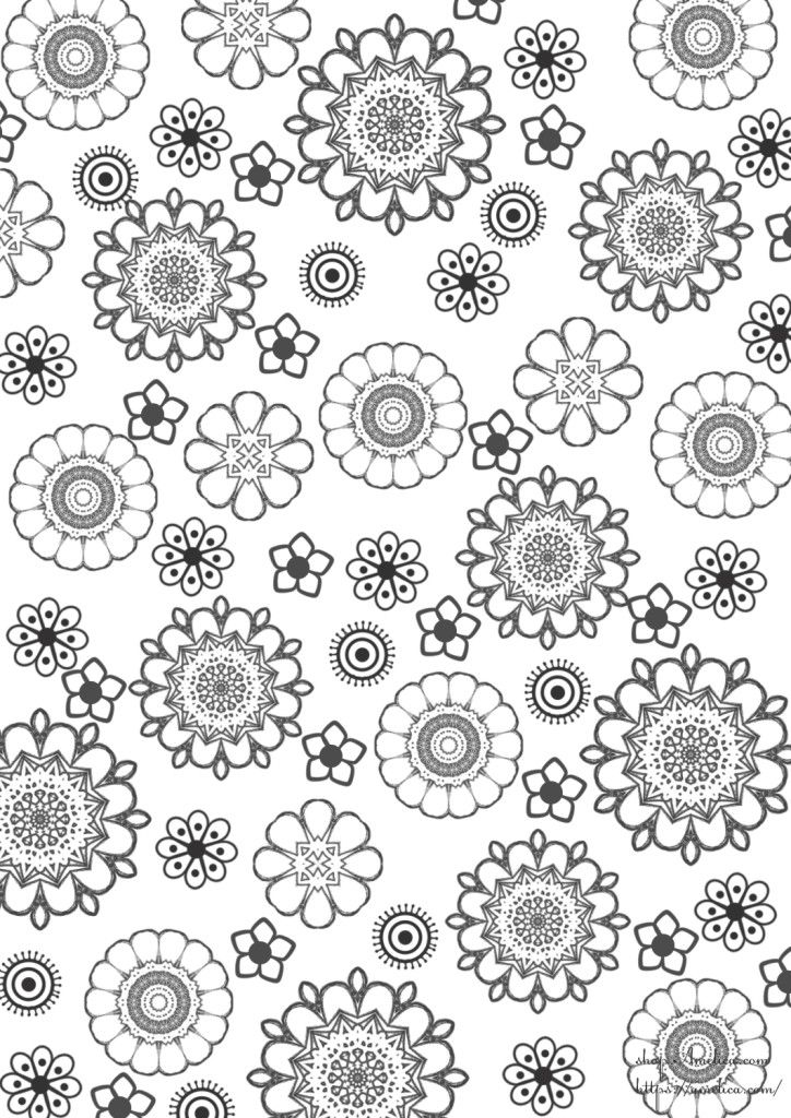 Raskraski Antistress Raspechatat Anti Stress Coloring Floral Illustrations Abstract Pattern Coloring Books