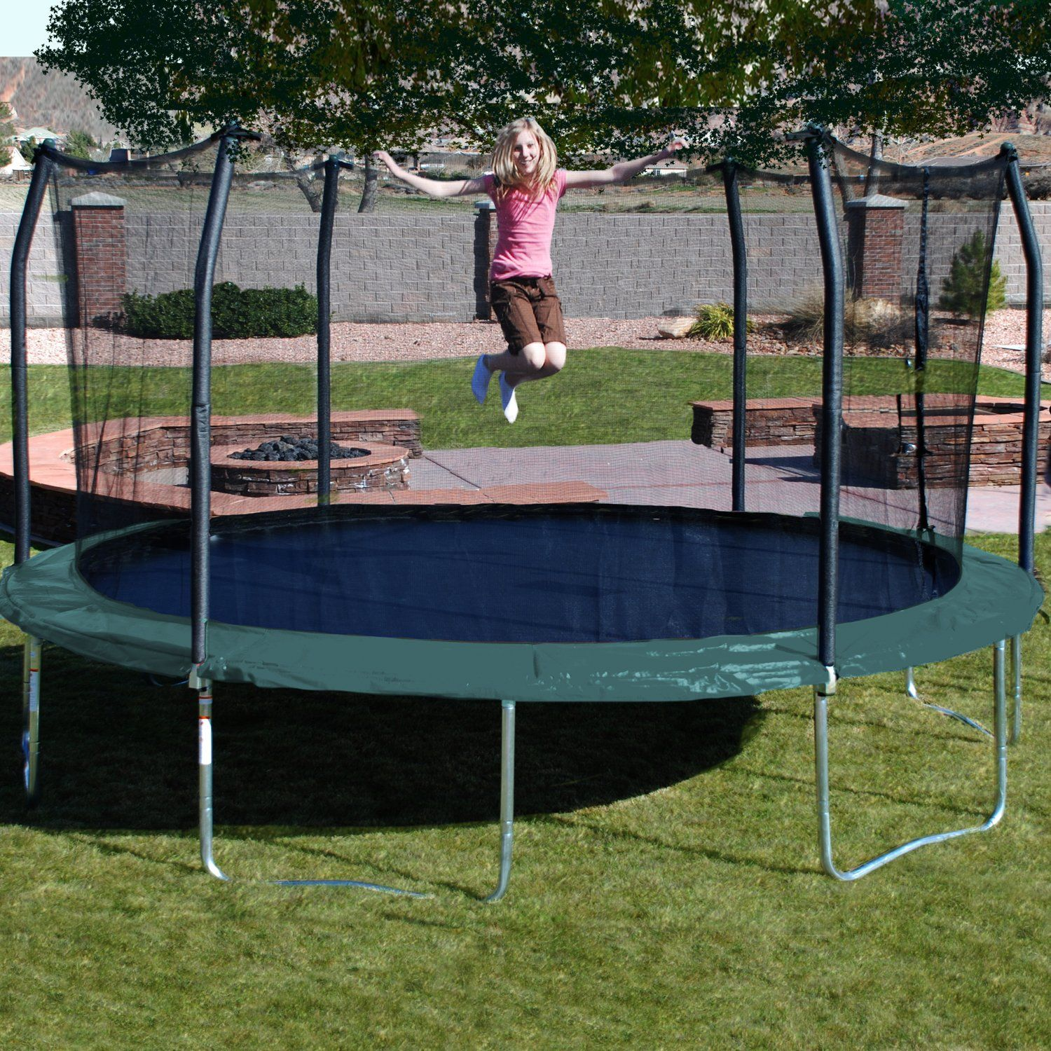 Have To Have It Skywalker Trampolines 17 Ft Oval Trampoline With Spring Pad 529 98 Backyard Trampoline Oval Trampoline Best Trampoline