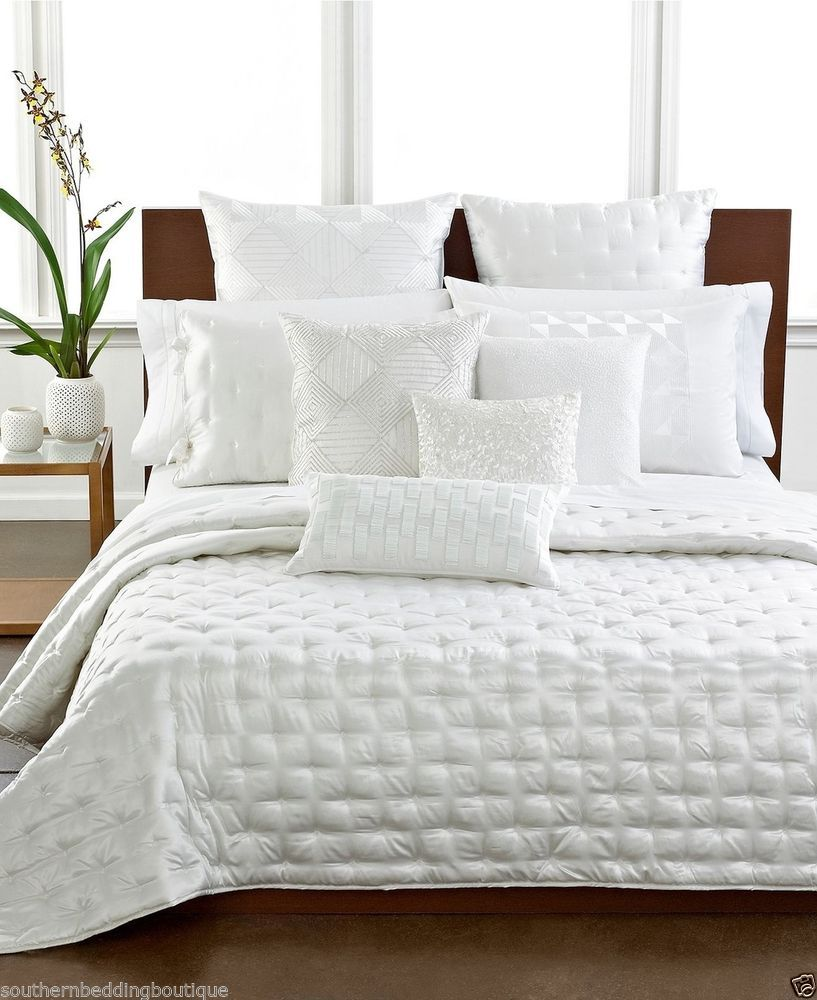Hotel Collection Finest Silk King Coverlet White $570