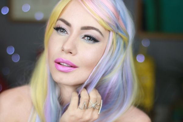 Juliana Goes | juliana Goes blog | Juliana Goes maquiagem | maquiagem Katy perry | maquiagem rosa | Katy Perry rock in rio