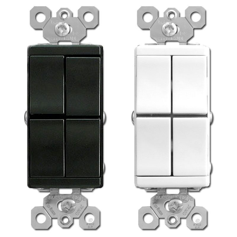 Triple Light Switches Dual SP 3Way Legrand RCD113 Rockers