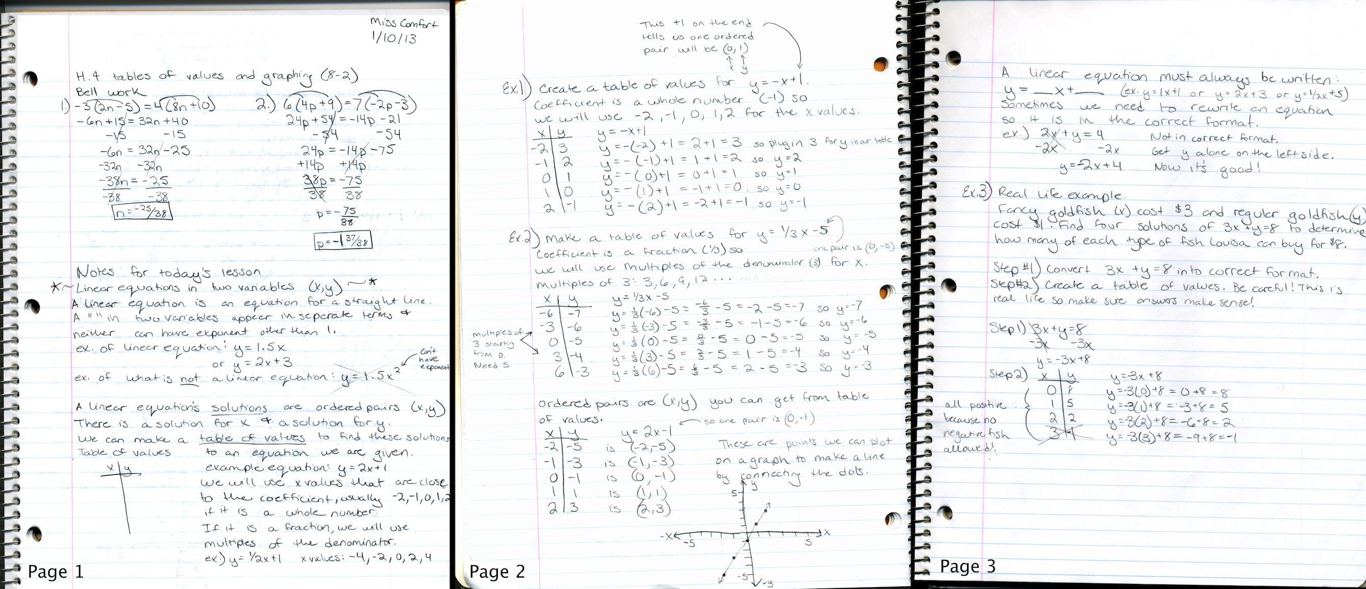 My Math Notebook--We must bring our spiral math notebook