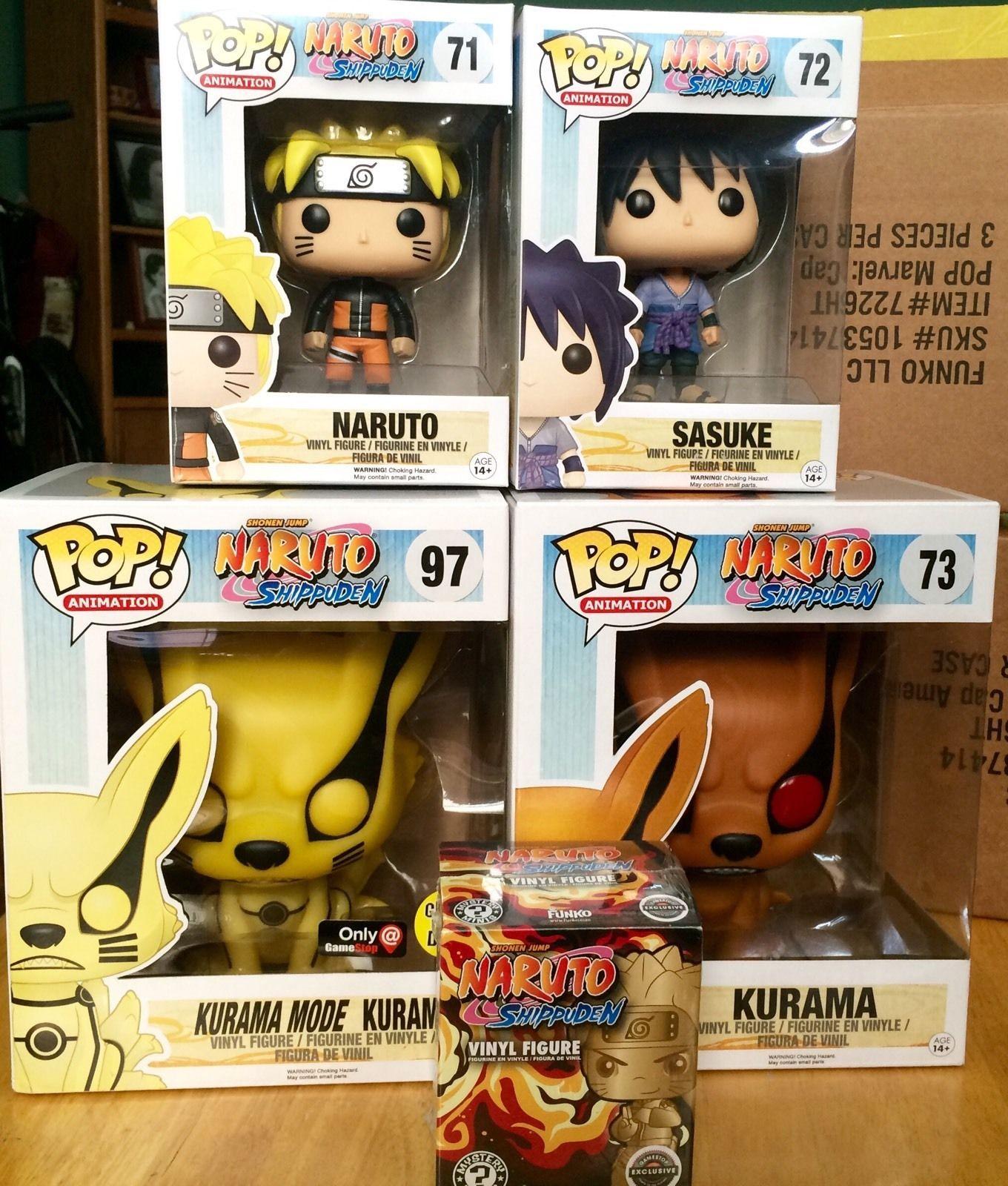 Funko Pop Naruto Complete Set Of 4 Mystery Mini Kurama Gamestop