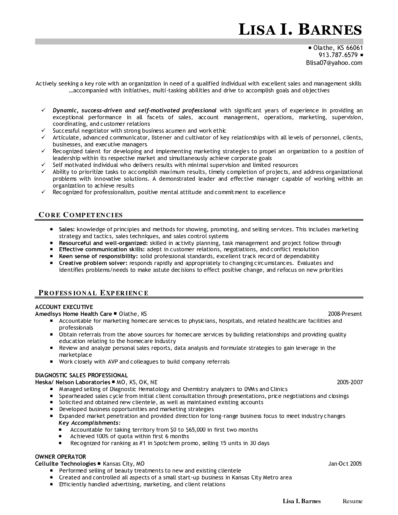Biomedical Sales Engineer Sample Resume Template Financial