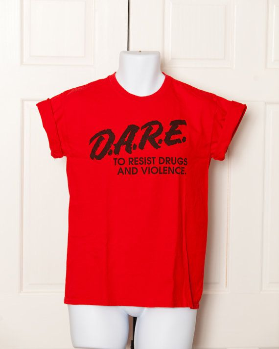 DARE Tshirt  To Resist Drugs And Violence  M by GreatWhiteVintage