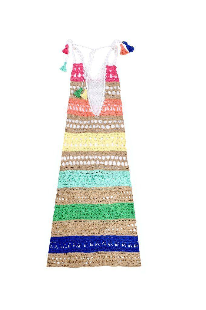 Vestido largo crochet cuba art 2214 | Pinterest | Bianchi, Vestido ...