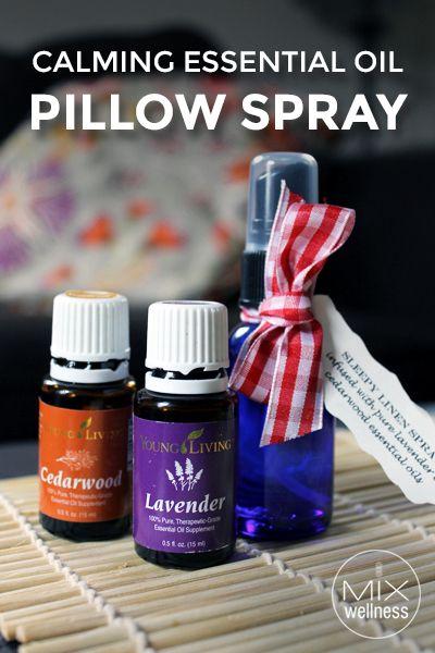Calming Essential Oil Pillow Spray Recipe Calming