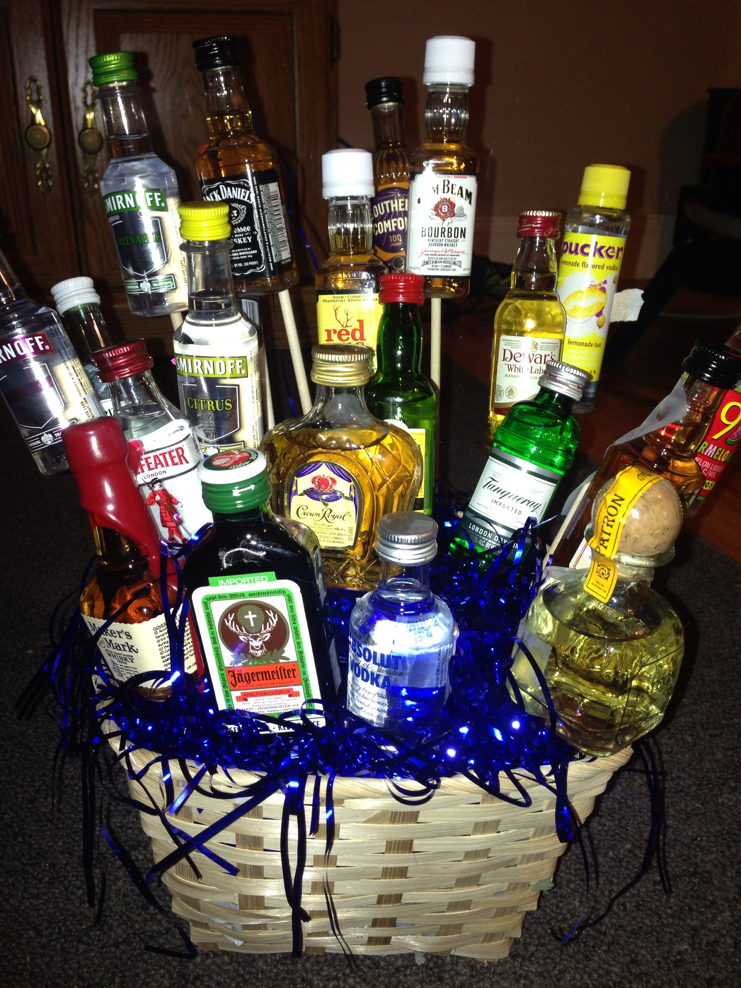 My Baby Brothers 21st Birthday Present 21 little bottles
