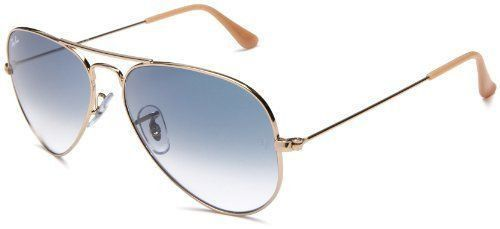d675f16747f74 NEW Ray Ban Aviator RB 3025 001 3F Crystal Blue Gradient Gold Arista Frame  58mm