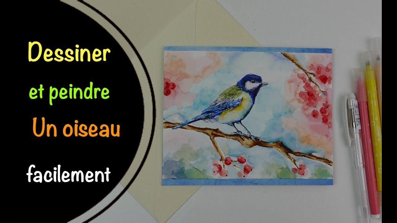 Comment Dessiner Un Oiseau Et Le Colorier Aux Feutres