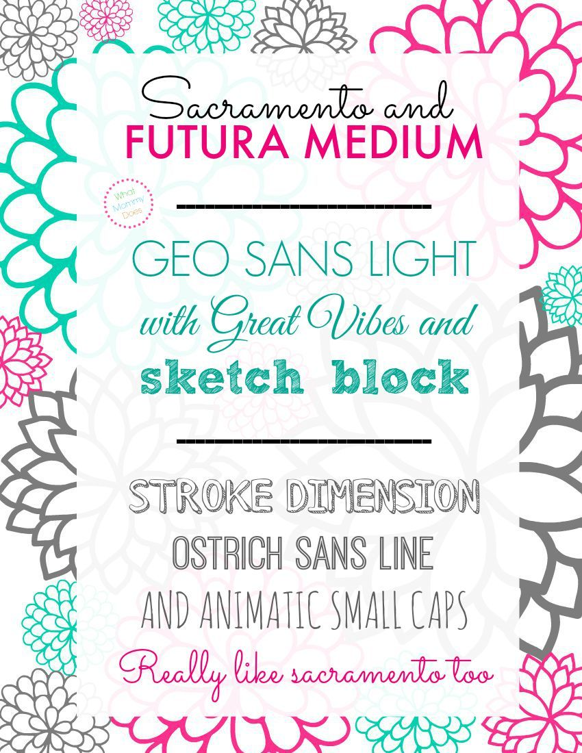 fonts that go together