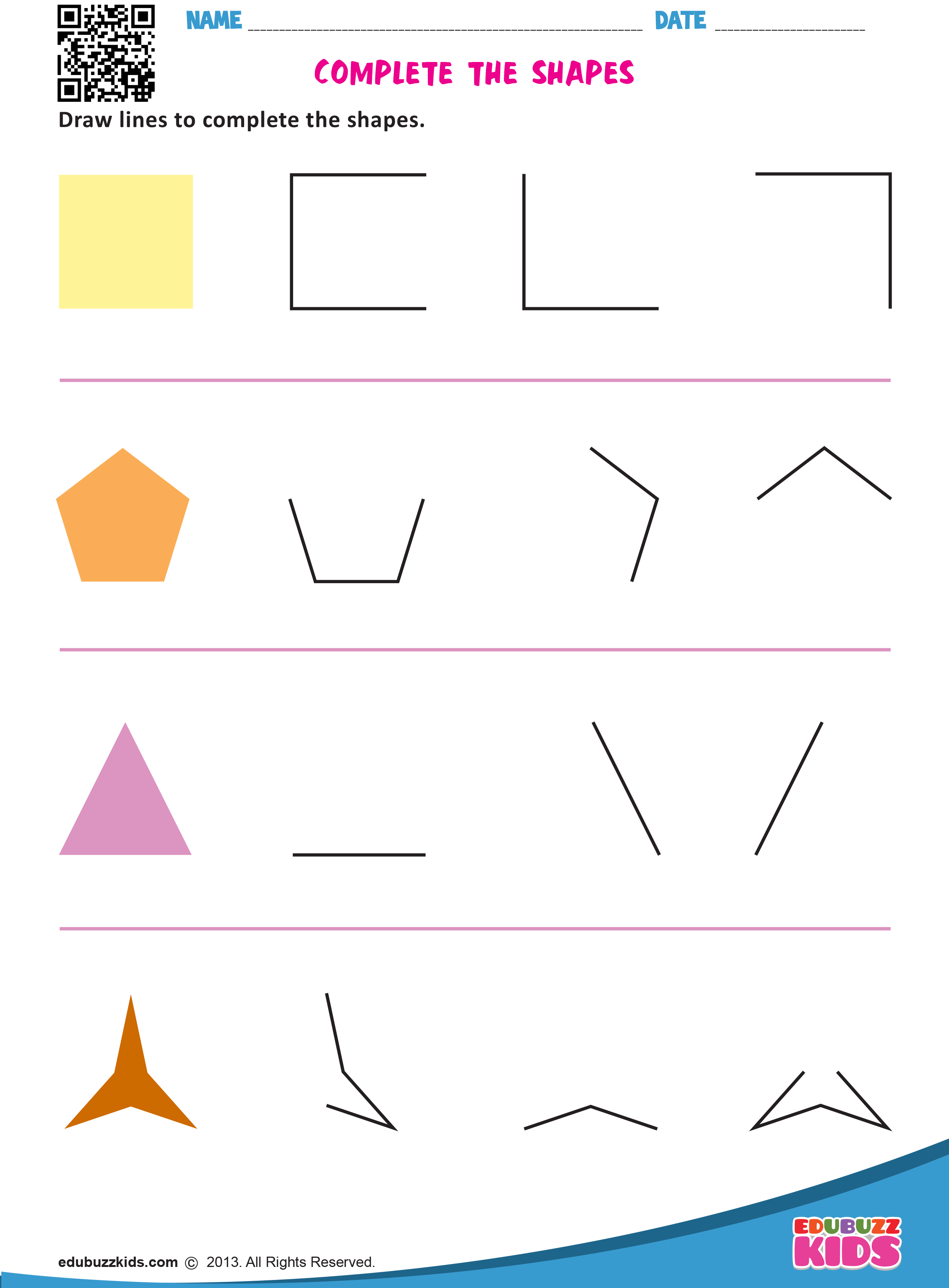 Free Printable Complete The Pattern Worksheets For