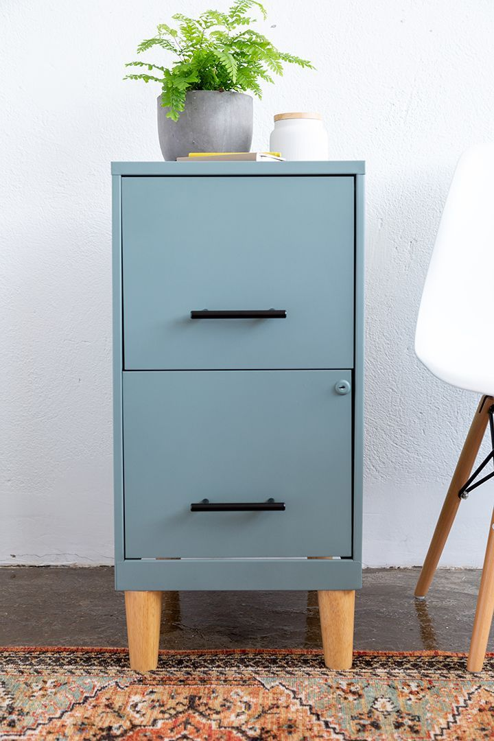 DIY Filing Cabinet Makeover - File cabinet makeover, Filing cabinet, Cabinet makeover diy, Cabinet makeover, Furniture makeover diy, Diy furniture projects - Transform a boring filing cabinet with spray paint, new hardware and wood legs  See our DIY Filing Cabinet Makeover project!