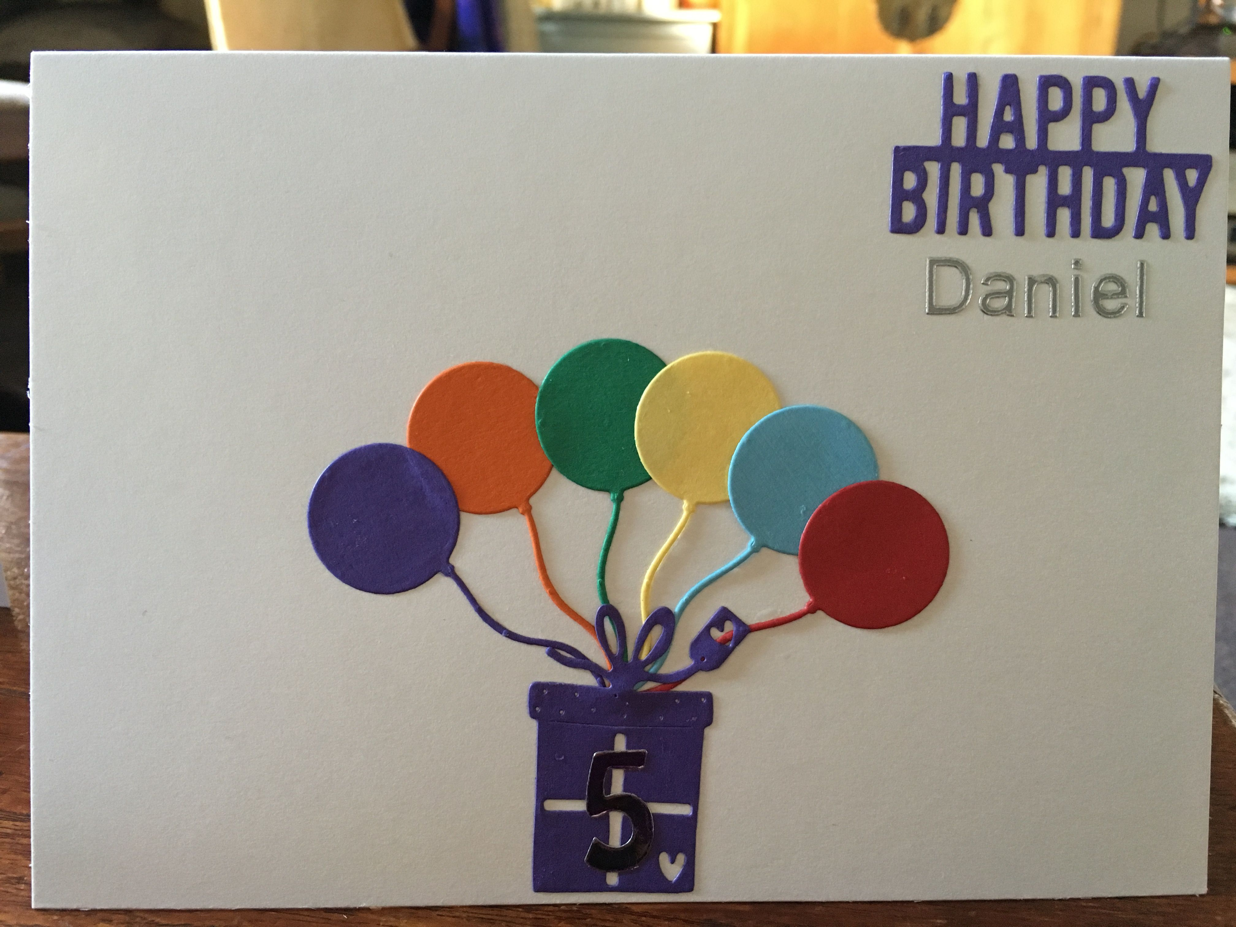 Birthday card for him year old oops balloons card designs